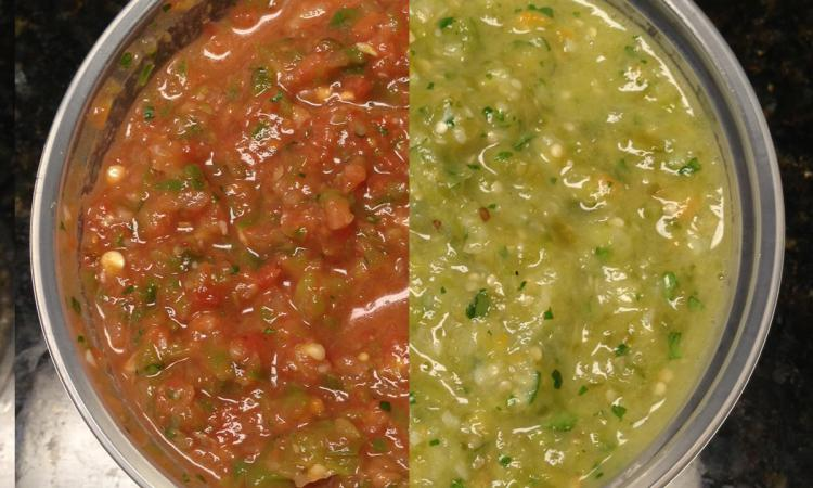 Roasted Salsa, Two-ways