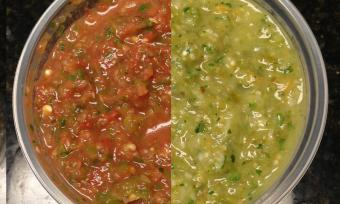 Roasted Salsa, Two-ways